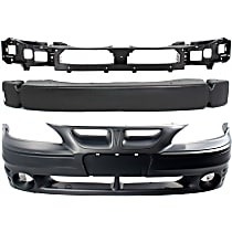 Replacement Bumper Reinforcement, Header Panel and Bumper Cover Kit - OE Replacement, Plastic