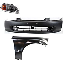 Replacement Fender, Headlight and Bumper Cover Kit - With Molding Holes