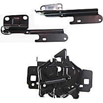 Hood Latch and Hood Hinge Kit - Steel, Direct Fit