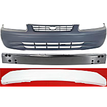 Replacement Bumper Cover, Bumper Reinforcement and Bumper Absorber Kit - Front, OE Replacement