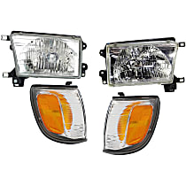 Replacement Corner Light and Headlight Kit - Driver and Passenger Side, OE Replacement, DOT/SAE Compliant