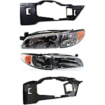 Replacement Headlight and Headlight Bracket Kit - Driver and Passenger Side, DOT/SAE Compliant