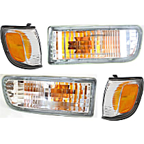 Replacement Turn Signal Light and Corner Light Kit - Driver and Passenger Side, DOT/SAE Compliant, Direct Fit