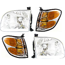Turn Signal Light and Headlight Kit - Driver and Passenger Side, DOT/SAE Compliant, Direct Fit