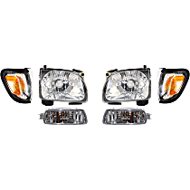 Replacement Corner Light, Headlight and Turn Signal Light Kit - Driver and Passenger Side, OE Replacement, DOT/SAE Compliant