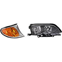 Headlight and Corner Light Kit - Passenger Side, DOT/SAE Compliant