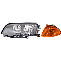 Corner Light and Headlight Kit - Driver Side, OE Replacement, DOT/SAE Compliant