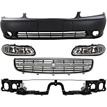 Header Panel - with Front Bumper Cover, Grille Assembly and Right and Left Headlights