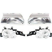 Turn Signal Light and Headlight Kit - Driver and Passenger Side, Clear Lens, DOT/SAE Compliant, Direct Fit