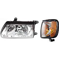 Replacement Headlight and Corner Light Kit - Driver Side, DOT/SAE Compliant