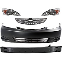 Headlight, Bumper Cover, Bumper Reinforcement and Grille Assembly Kit - Driver and Passenger Side, DOT/SAE Compliant
