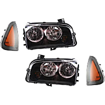 Side Marker and Headlight Kit - Driver and Passenger Side, Direct Fit, DOT/SAE Compliant