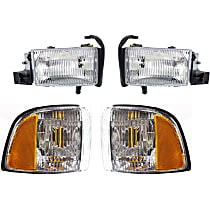 Corner Light and Headlight Kit - Passenger Side, OE Replacement, DOT/SAE Compliant