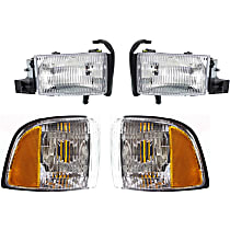 Replacement Corner Light and Headlight Kit - Passenger Side, OE Replacement, DOT/SAE Compliant