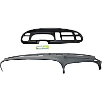 Cap type Instrument Panel Cover - Black, ABS Thermoplastic Polymer, Set of 2