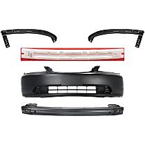 Bumper Absorber, Bumper Cover, Bumper Reinforcement and Bumper Filler Kit - Front, OE Replacement