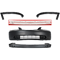 Replacement Bumper Reinforcement, Bumper Cover, Bumper Absorber and Bumper Filler Kit - Front, OE Replacement