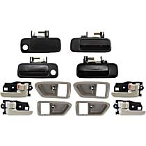 Exterior Door Handle and Door Handle Trim Kit - Front and Rear, Driver and Passenger Side, Beige