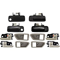 Replacement Exterior Door Handle and Door Handle Trim Kit - KIT1-111415-01-B - Front and Rear, Driver and Passenger Side, Beige