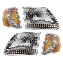 Replacement Headlight and Corner Light Kit - DOT/SAE Compliant