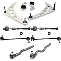 Control Arm, Control Arm Bushing, Tie Rod End and Sway Bar Link Kit