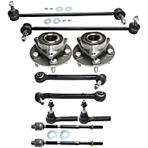 Control Arm, Sway Bar Link, Wheel Hub and Tie Rod End Kit