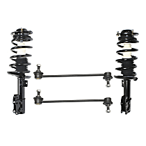 Front, Driver and Passenger Side Loaded Strut - Set of 4