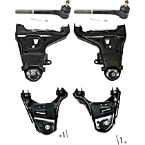 Control Arm Front Lower and Upper, Driver Left and Right Side For 4WD, Front Tie Rod End Outer