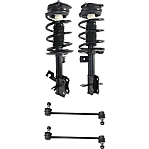 OE Replacement Front, Driver and Passenger Side Strut - Set of 4