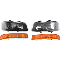 Headlights - Driver and Passenger Side, Kit, Composite, With Bulb(s), With Parking Lights