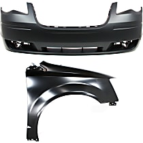 Fender - Front, Passenger Side, with Front Bumper Cover - without Molding Holes and Headlight Washer Holes, CAPA Certified