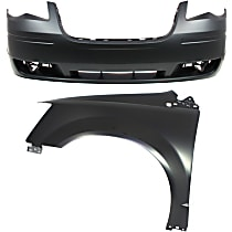 Fender - Front, Driver Side, with Front Bumper Cover, without Molding Holes, CAPA Certified