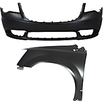 Fender - Front, Driver Side, with Front Bumper Cover, CAPA Certified