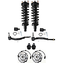 OE Replacement Front, Driver and Passenger Side Loaded Strut - Set of 6