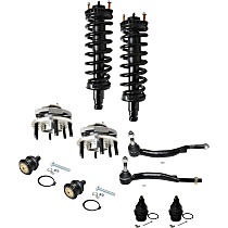 Loaded Struts, Tie Rod End, Wheel Hub and Ball Joint Kit