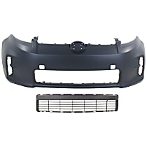 Grille Assembly and Bumper Cover Kit - Textured Gray, Front