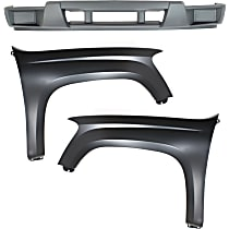 Fender - Front, Driver and Passenger Side, with Front Lower Bumper Cover, without Fog Light Holes
