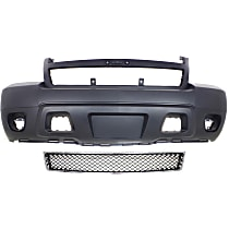 Bumper Cover - Front, Kit, Primed, For Models Without Off Road Package (Round Fog Lights), Includes Lower Bumper Grille, With Tow Hook Hole, CAPA Certified