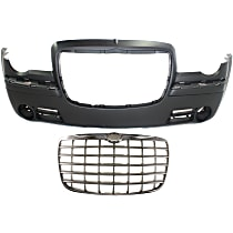 Grille Assembly - Chrome Shell with Painted Silver Insert, Code MF5, with Front Bumper Cover 5.7 Liter Engine
