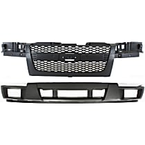 Bumper Cover - Front, Lower, Kit, Textured, For Non-Xtreme Models Without Sport Package and With Fog Lamps, Includes Grille, With Tow Hook Hole