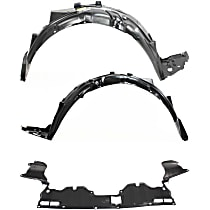 Fender Liner - Front, Driver and Passenger Side, Sedan, EX/EX-L/GX/LX/Si/Hybrid Models, with Engine Splash Shield