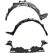 Fender Liner - Front, Driver and Passenger Side, Sedan, EX/EX-L/GX/LX/Si/Hybrid Models, with Engine Splash Shield