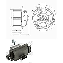KIT1-201009-158-A Blower Control Module and Motor Kit