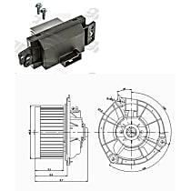 KIT1-201009-158-B Blower Control Module and Motor Kit