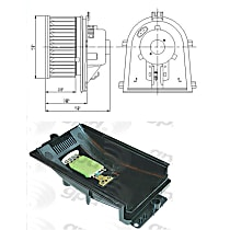 KIT1-201009-93-A Blower Motor and Resistor Kit