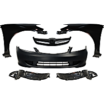Bumper Cover - Front, Kit, Primed, For Sedan, Includes Fenders (w/ Fender Liners) and Grille