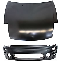 Replacement Bumper Cover and Hood Kit - With fog light holes