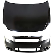 Replacement Bumper Cover and Hood Kit - KIT1-30215-32-A - With fog light holes