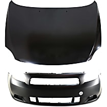 Hood - Primed, with Front Bumper Cover