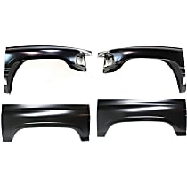 Replacement Wheel Arch Repair Panel and Fender Kit - Front, Driver and Passenger Side, Direct Fit